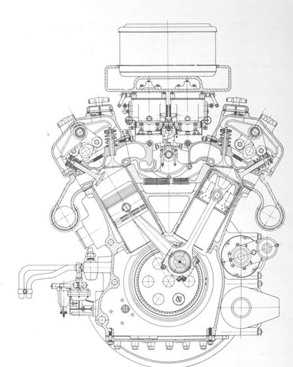 Схематичное изображение мотора тигра