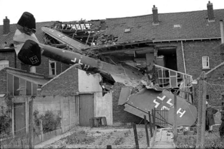 Сбитые немецкие самолеты — ночной