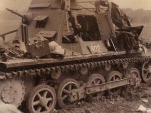 Танк ПЗ-1 легкий танк германии разбитый