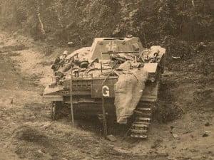PzKpfw-I танк разбитый