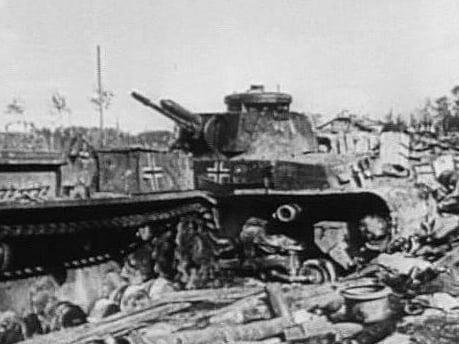 Уничтоженный танк пз 35т