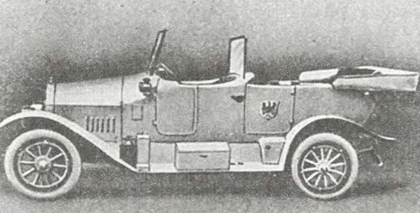 Автомобиль NSU военной модификации 1914 года